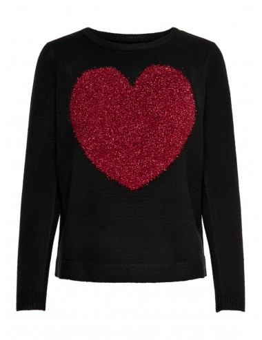 JERSEY onlSANNE L/S HEART PULLOVER KNT AW19