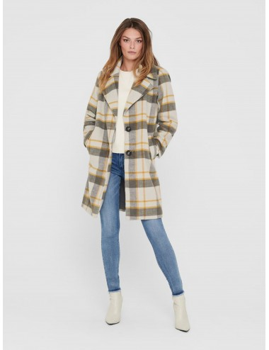 CHAQUETA onlTAYLOR CHECK WOOL COAT AW20