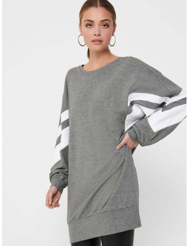 VESTIDO onlJOSSA L/S SPORTY SWEAT DRESS COMFY SS21