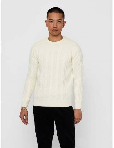 JERSEY onsKEVIN 5 CABLE PUNTO LANA KNIT AW20