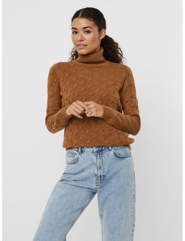 JERSEY vmWAVES ROLLNECK BLOUSE PUNTO AW20