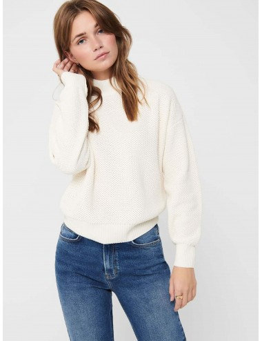 JERSEY onlCOYA L/S STRUCTURE PULLOVER KNIT COMFY AW20