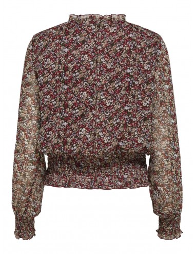 TOP onlMERLE L/S SMOCK CORTO FLORES TOP SS21