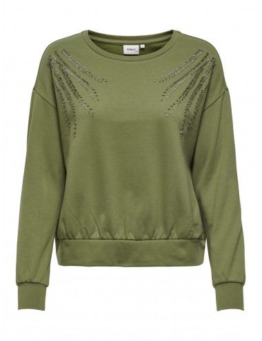 SUDADERA onlLUXI LIFE L/S LEAF O-NECK SWT SS21