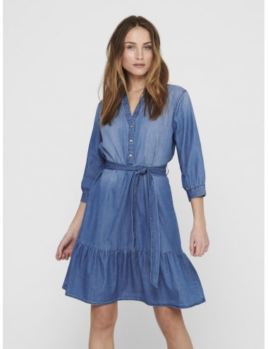 VESTIDO jdySILLE LIFE 3/4 SHIRT DRESS VAQUERO SS21