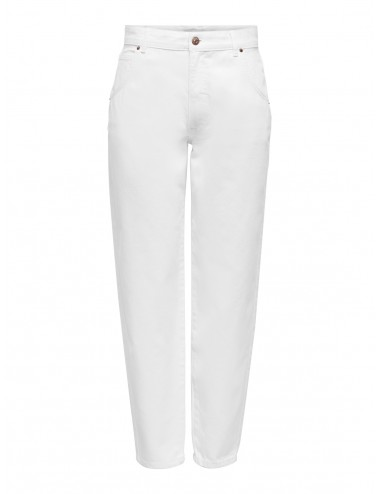 JEANS onlTROY LIFE HW WHITE CARROT BLANCO SS21