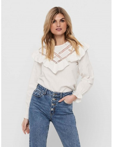 TOP jdyIVY LIFE L/S LACE TOP WVN SS21