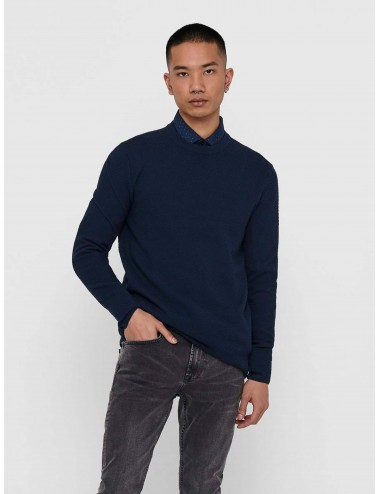 JERSEY onsDANNY 12 STRUCTURE CREW NECK KNIT PUNTO SS21