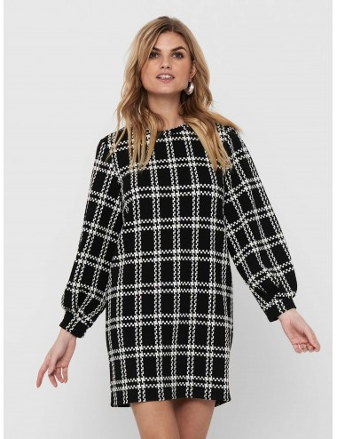 VESTIDO jdyDOVER L/S CHECK DRESS JRS SS21