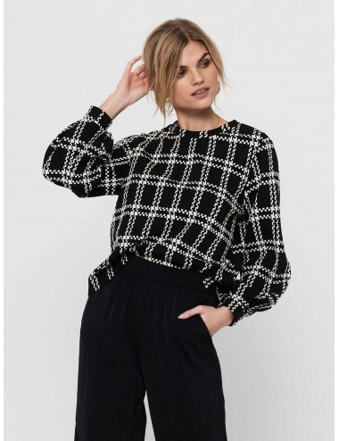 TOP jdyDOVER L/S CHECK TOP JRS SS21