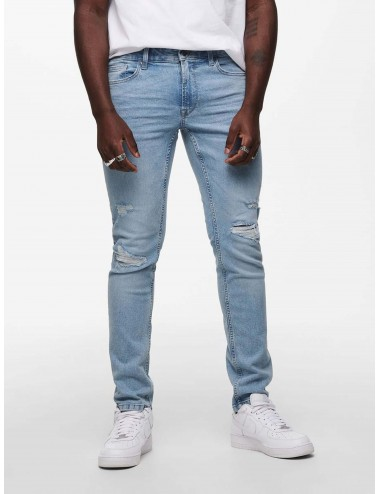 JEANS onsLOOM LIFE SLIM L BLUE REPAIR PK 9493