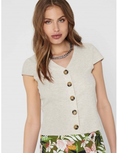 TOP onlNELLA S/S BUTTON TOP NOOS JRS SS21