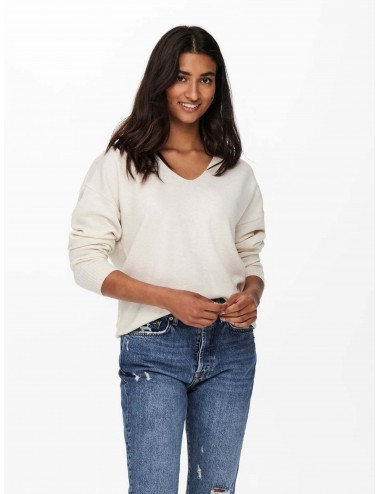 JERSEY onlRICA LIFE L/S V-NECK PULLO KNT NOOS AW21