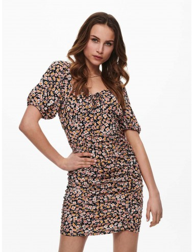 VESTIDO onlFUCHSIA S/S SHORT DRESS WVN SS21