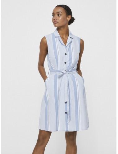 VESTIDO vmAKELASANDY SL CHAMBRAY SHORT DRESS GA