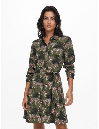 VESTIDO jdyMALENE L/S SHIRT DRESS WVN AW21