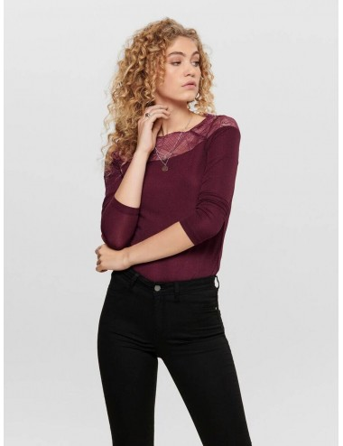TOP onlAYA ENCAJE BRILLO AW19